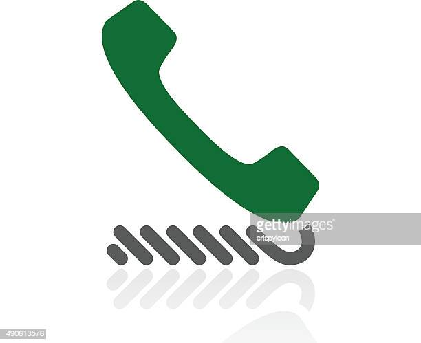 telephone icon on a white background. - freshseries - telephone receiver stock illustrations