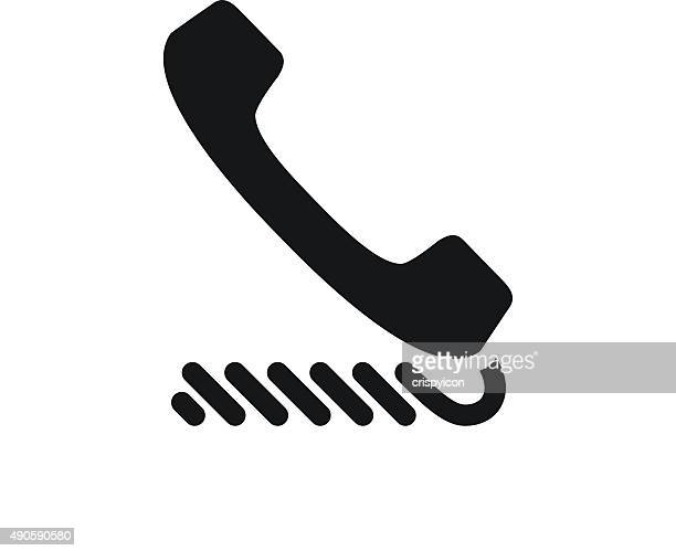 Telephone icon on a white background. - SingleSeries