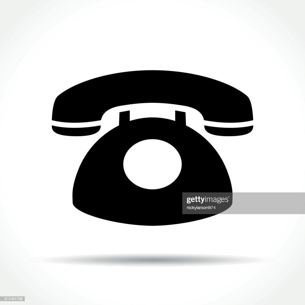 telephone icon on white background