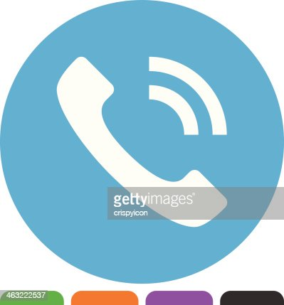 telephone icon vector art   getty images