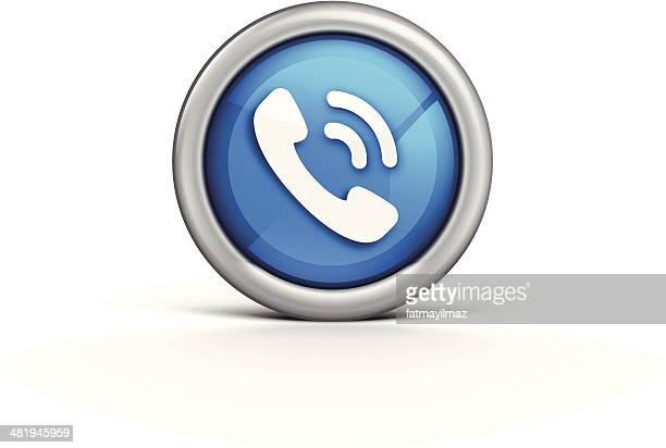 telephone icon - answering machine stock illustrations, clip art, cartoons, & icons