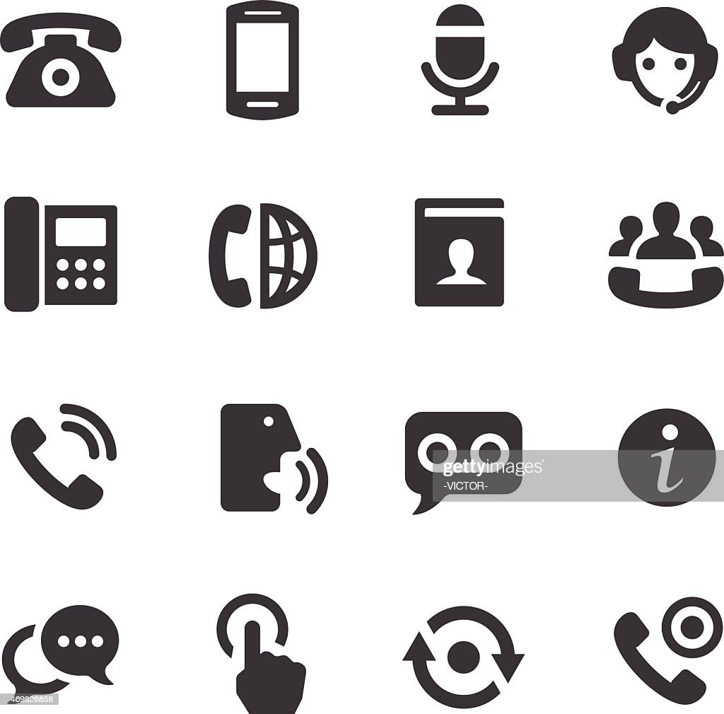 Telephone Icons - Acme Series : stock illustration