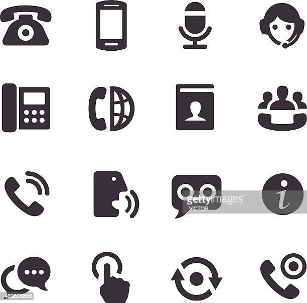 telephone icons - acme series - answering machine stock illustrations, clip art, cartoons, & icons