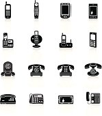 Telephone Icons - Black Series