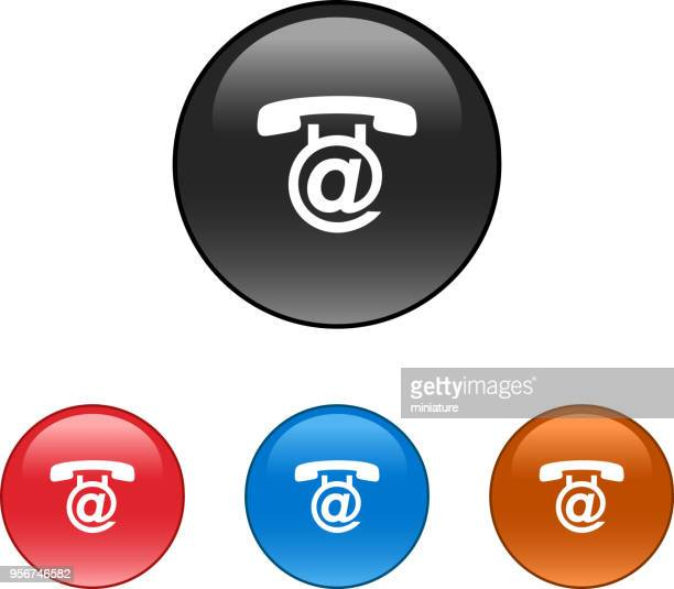 telephone icons - answering machine stock illustrations, clip art, cartoons, & icons