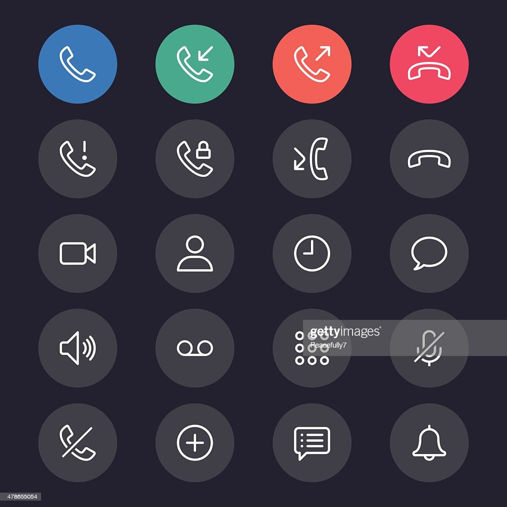 Telephone line icons