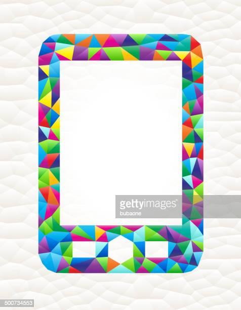 telephone on triangular pattern mosaic royalty free vector art - free mosaic patterns stock illustrations