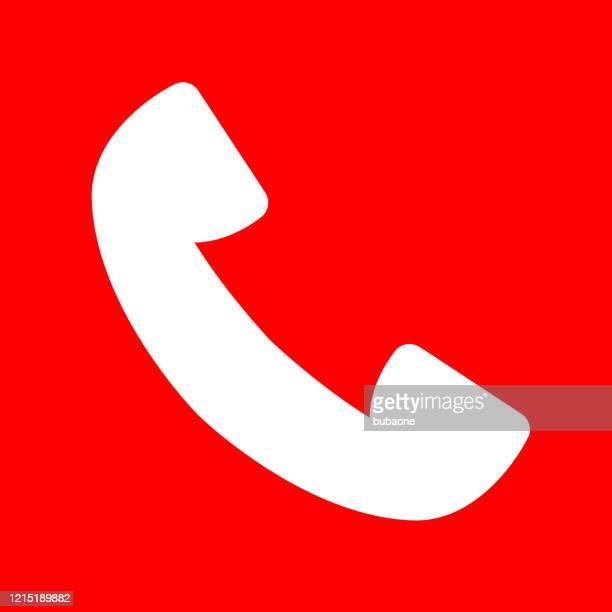 電話受信機アイコン - 受話器点のイラスト素材/クリップアート素材/マンガ素材/アイコン素材