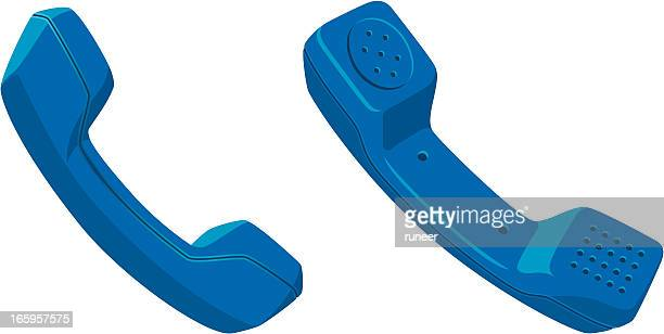 telephone receiver icons   classic series - telephone receiver stock illustrations