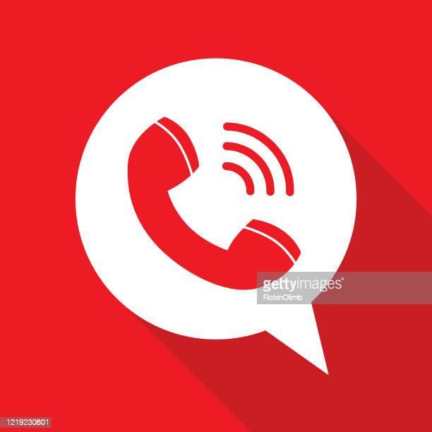 telefonempfänger-sprachblase - am telefon stock-grafiken, -clipart, -cartoons und -symbole