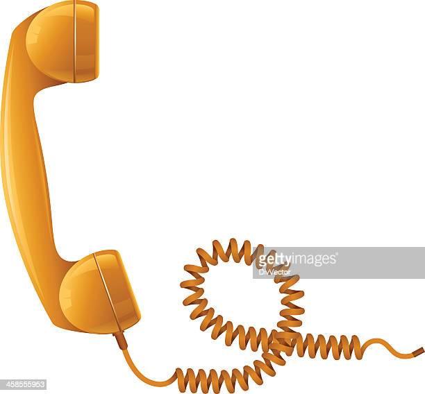 受話器 - ケーブル点のイラスト素材/クリップアート素材/マンガ素材/アイコン素材