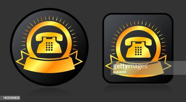 ilustrações, clipart, desenhos animados e ícones de telefone vetores royalty free escudo botões em fundo preto - great seal