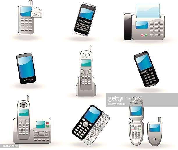 telephones - answering machine stock illustrations, clip art, cartoons, & icons