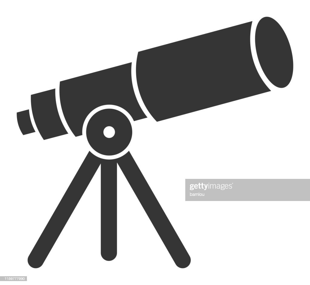 telescope icon high res vector graphic getty images telescope icon high res vector graphic getty images