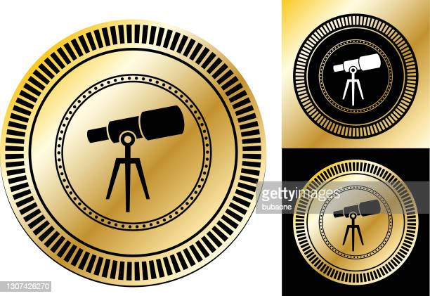telescope icon - physics stock illustrations