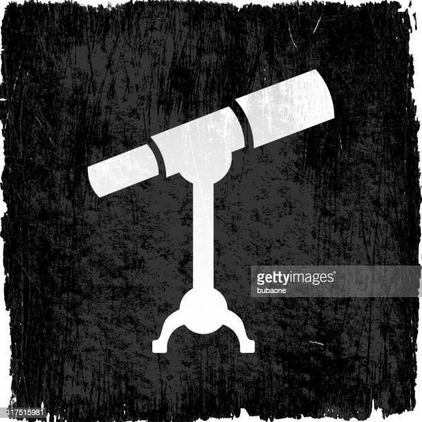telescope on royalty free vector background - voyeurism stock illustrations, clip art, cartoons, & icons