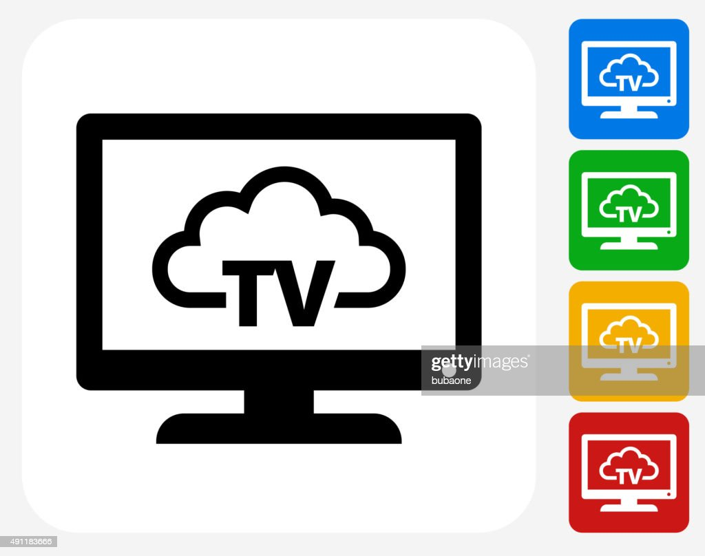 Television Cloud Computing Icon Flat Graphic Design