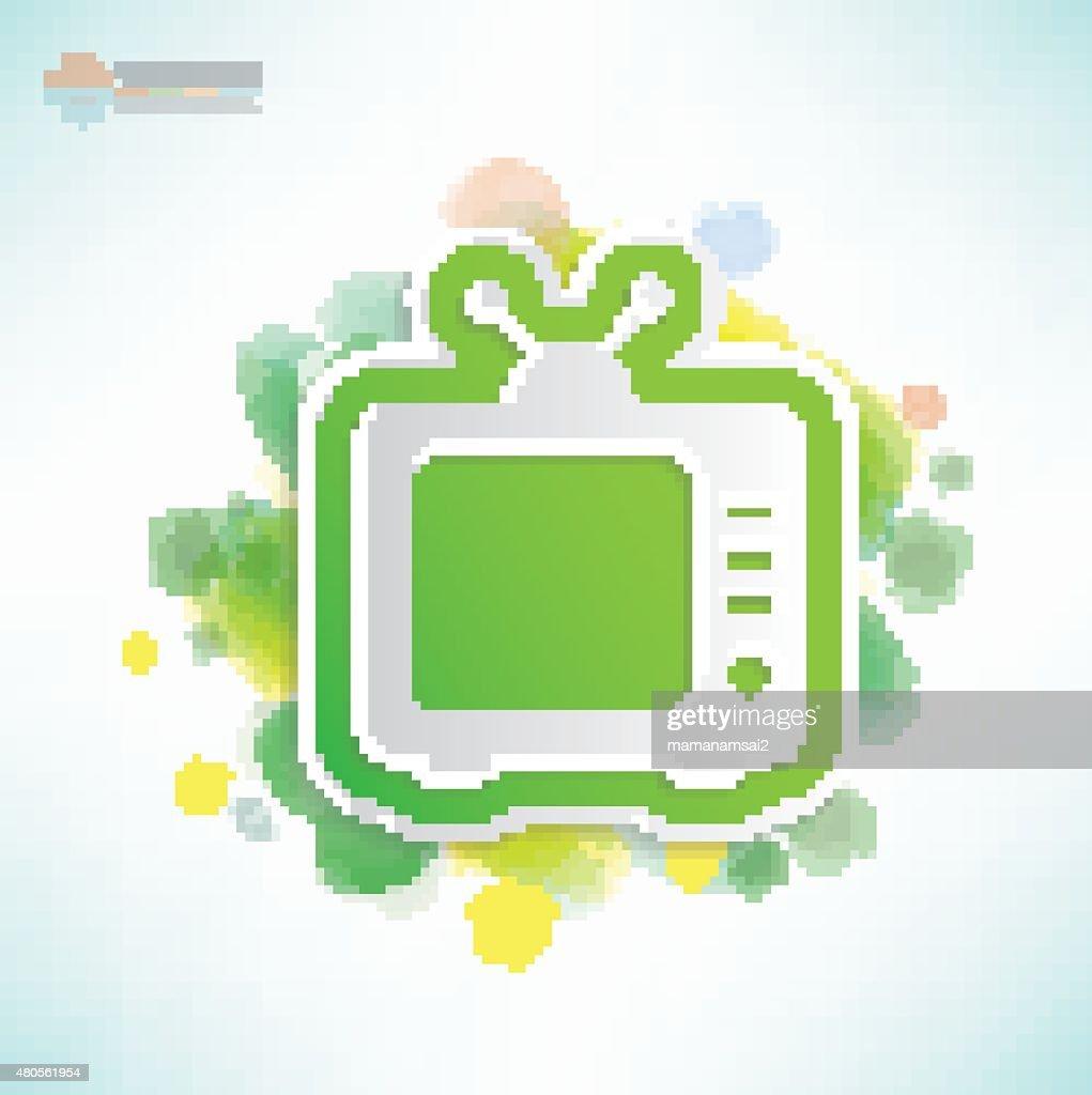 Television design,Water colour concept,vector : Vector Art