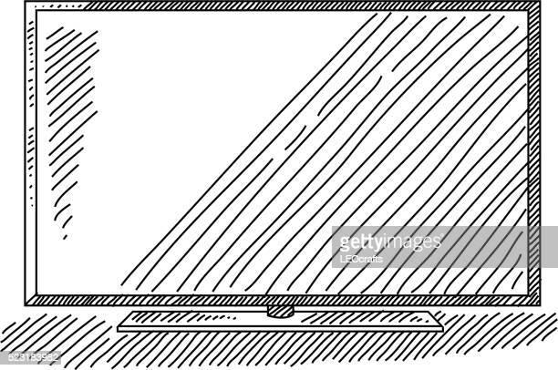 4K Television Drawing