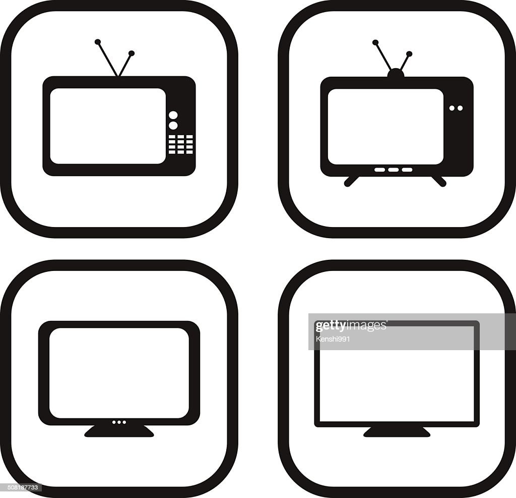Television icon - four variations