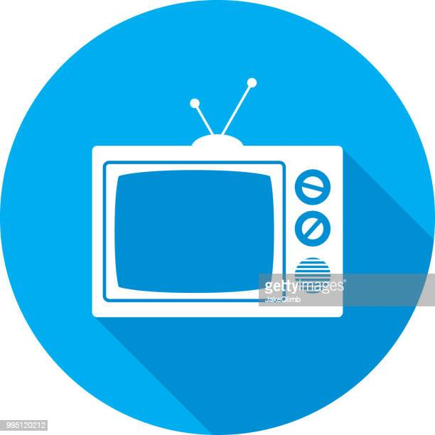 television icon silhouette - television industry stock illustrations