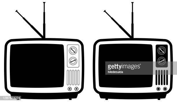 bildbanksillustrationer, clip art samt tecknat material och ikoner med ikon för tv - film and television screening