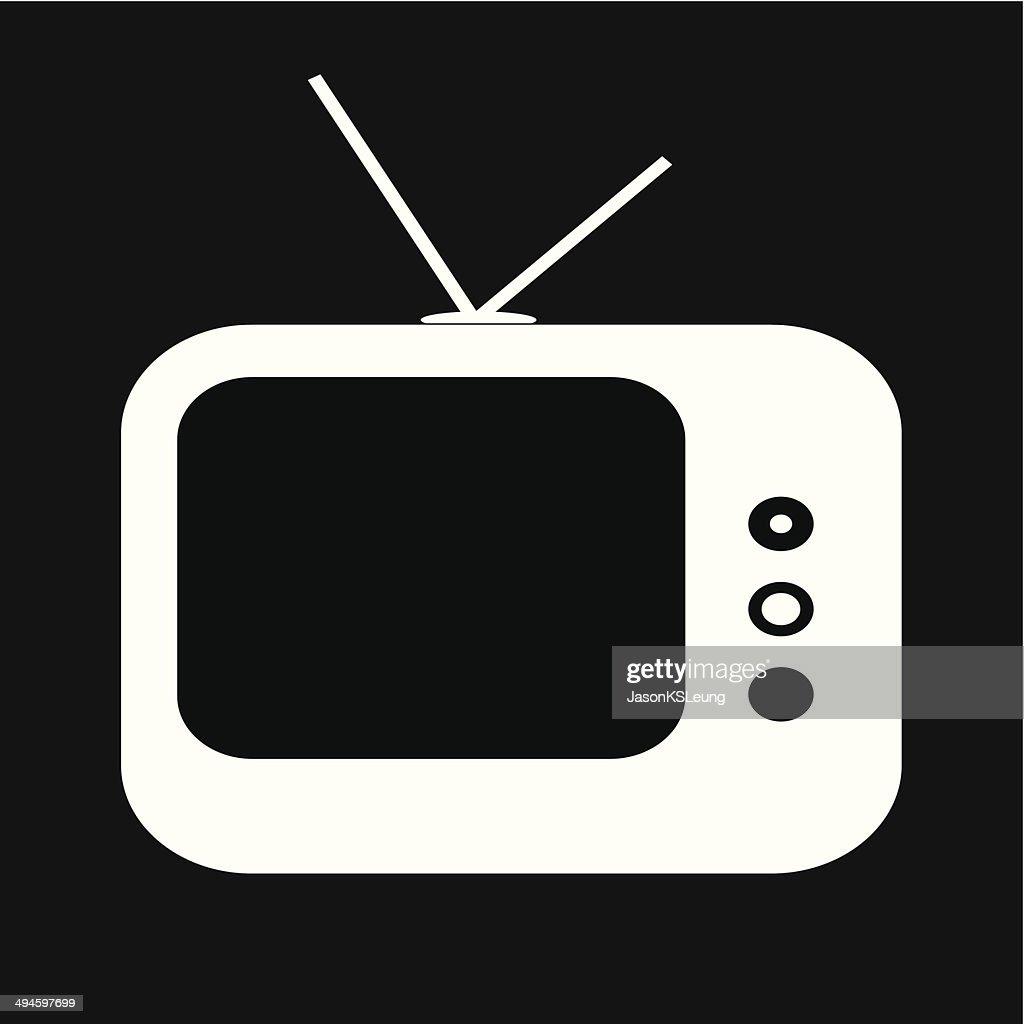 Television icon- vector