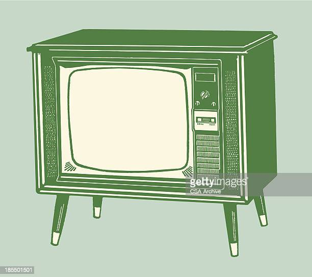 television set - television industry stock illustrations