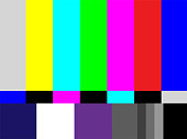 Television test pattern of stripes