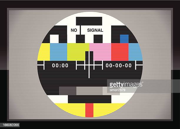 bildbanksillustrationer, clip art samt tecknat material och ikoner med television test screen in case - tv program