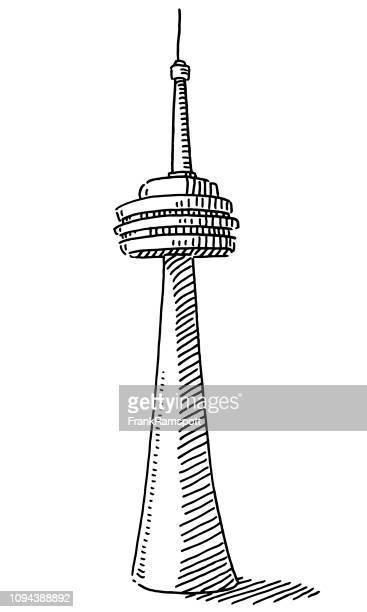 TV-Tower-Gebäude zeichnen