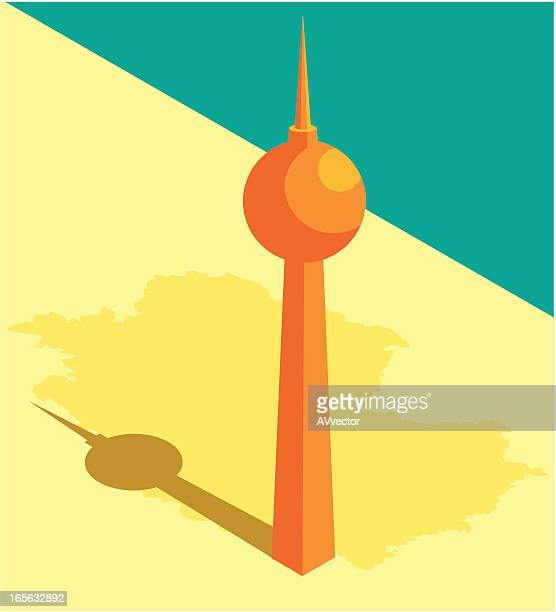 television tower - communications tower stock illustrations