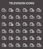 Television,Applicat ion icons,vector