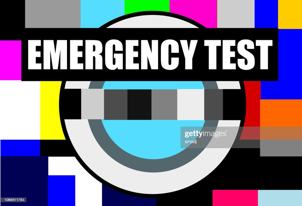 Televison test pattern : stock illustration