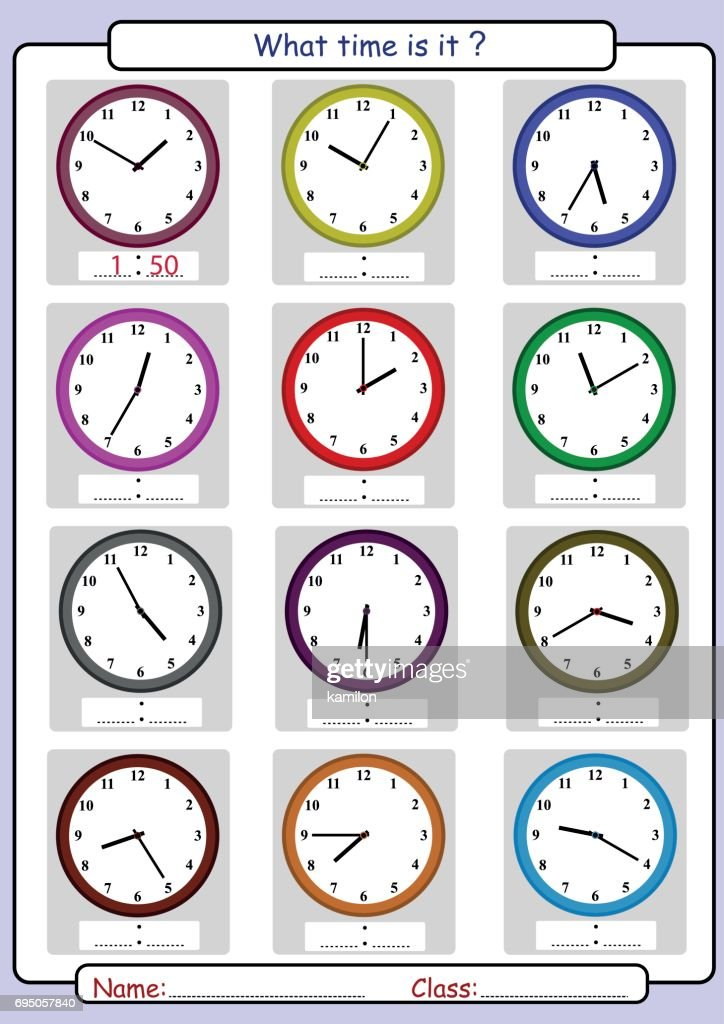 Telling the time, what time is it