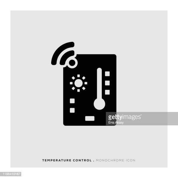 temperature control icon - fahrenheit stock illustrations