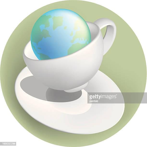 ilustraciones, imágenes clip art, dibujos animados e iconos de stock de tempestad en teacup - doble exposicion negocios