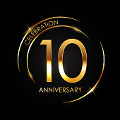 Template 10 Years Anniversary Vector Illustration