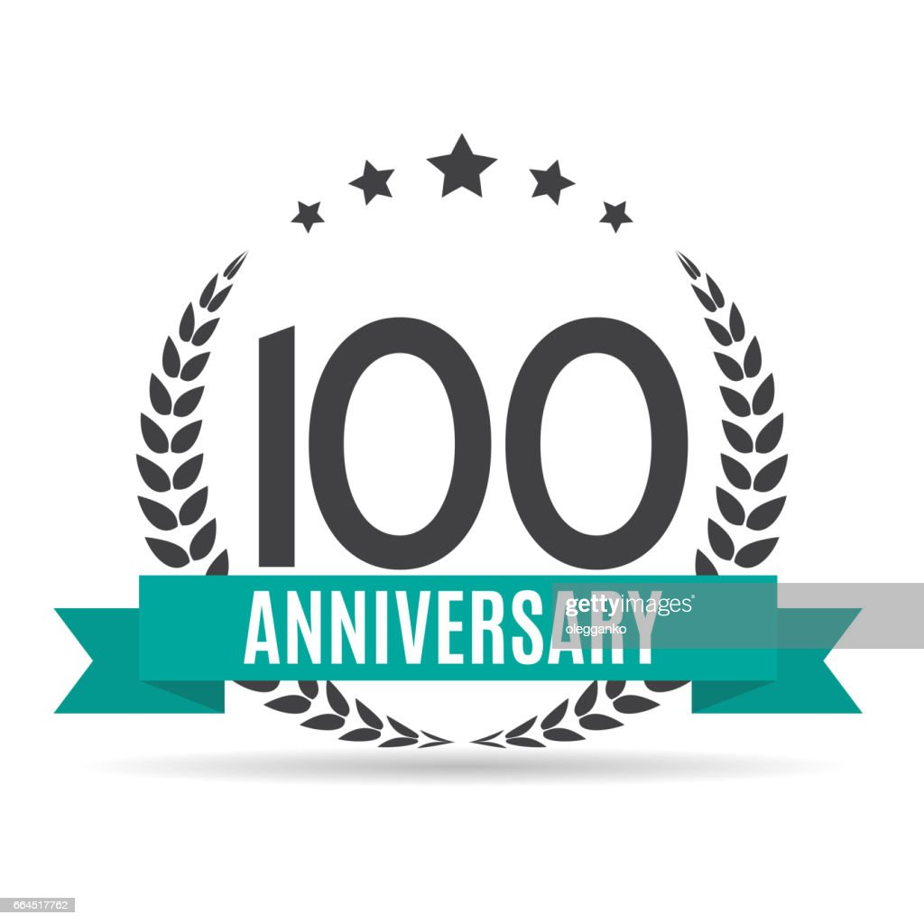 Template 100 Years Anniversary Vector Illustration