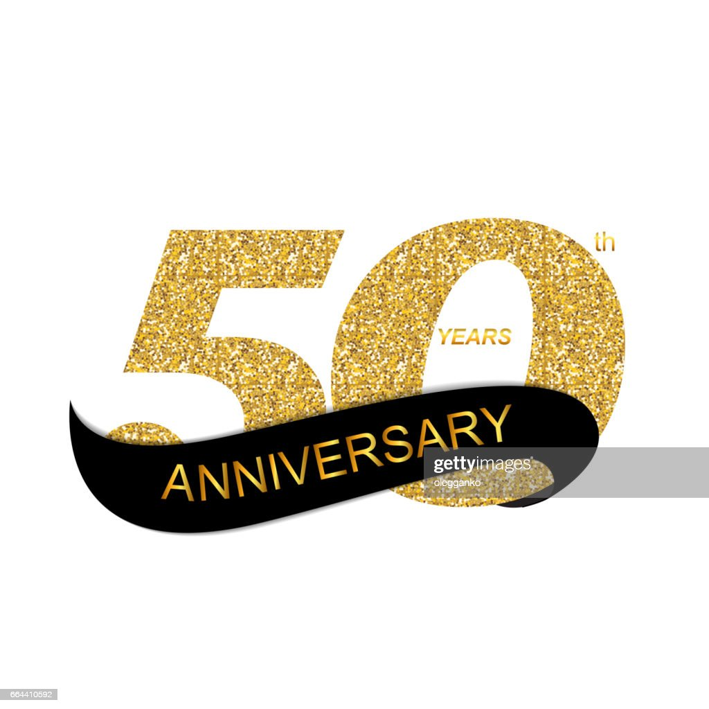 Template 50th Anniversary Vector Illustration