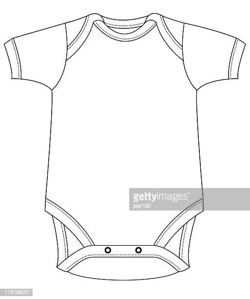 template baby grow - baby clothing stock illustrations