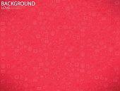 Template Background Valentine's day, Love icon