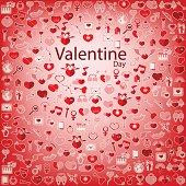 Template Background Valentine's day