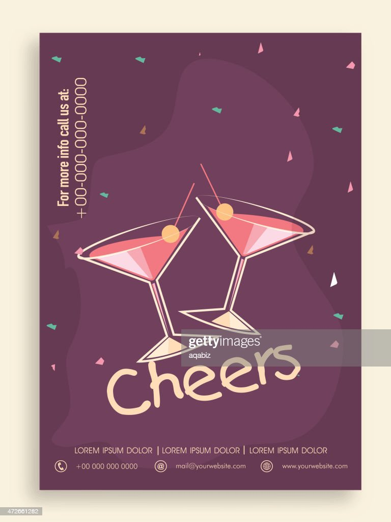Template, banner or flyer for party.