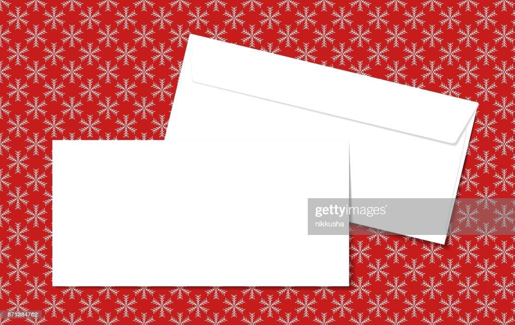 Vorlage Leer Vektor Umschläge Auf Weihnachten Hintergrund Mit