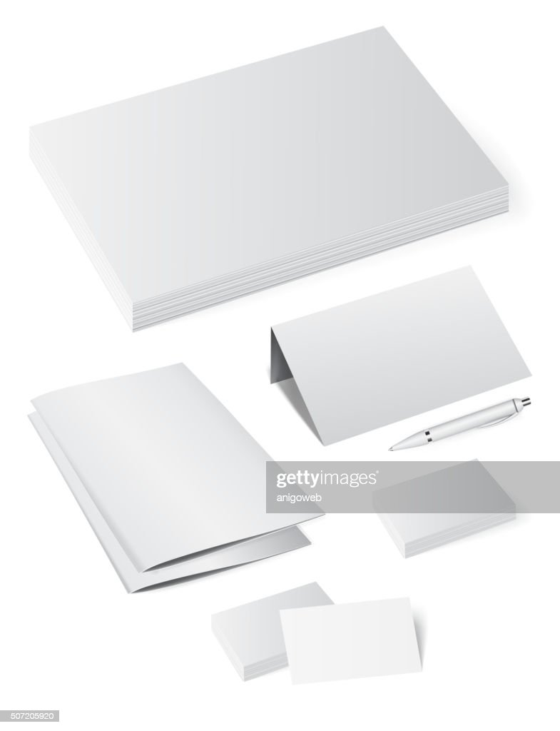 Template booklet folder for papers, a4 sheets