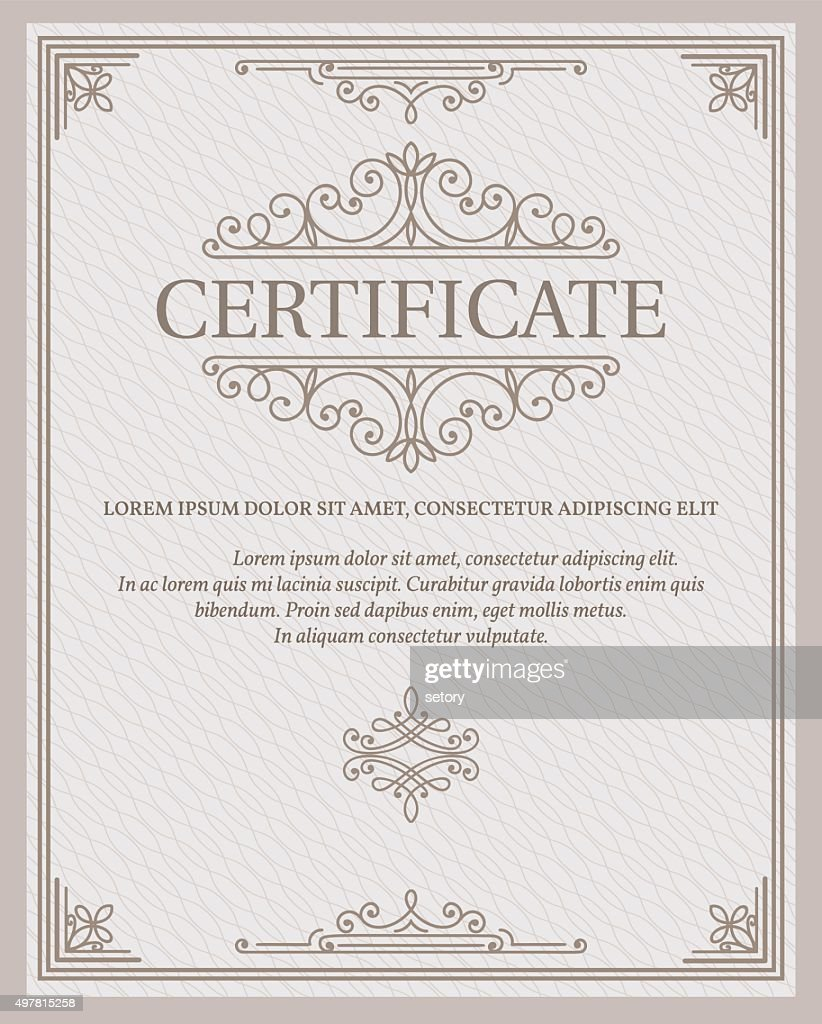 Vorlage Zertifikat Und Diplome Vektorgrafik | Getty Images