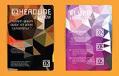 Template design Abstract polygon design vector for magazine broc