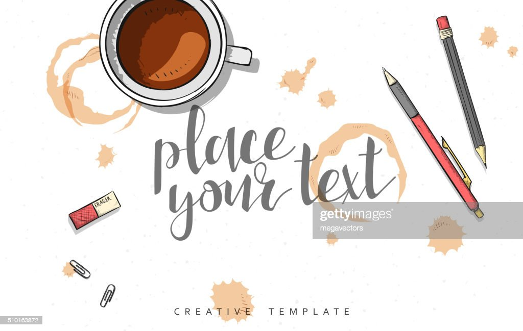 Template design concept sketch illustration for marketing. Concept mockup