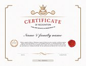 A template design for a certificate